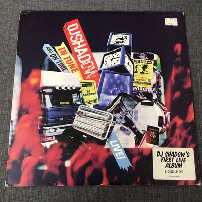 DJ Shadow – Live! In Tune And On Time 雙片黑膠 2004年歐版