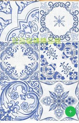 ◎冠品磁磚精品館◎進口精品 格羅寧亮釉面藍花壁磚(單花、混搭)–15X15CM