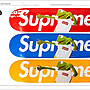 [ACE27 艾斯設計專賣店]supreme 藍底  防水彩貼 單速車 GRIME 貼紙 單速車 貼紙 FIXED GEAR bmx