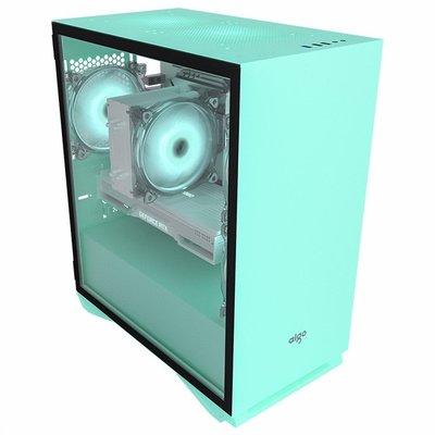 迷你機殼愛國者YOGO M2黑白綠粉色電腦小機箱全側透明水冷MATX主機臺式itx