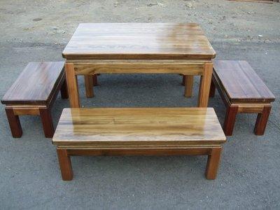 A040 {崙頂傳統原木家具行}~杉木實木桌配杉木實木椅 跟 接受訂作 訂色 多款選擇