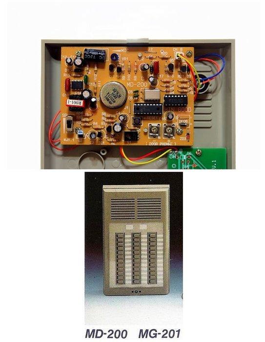 明谷牌半數位式門口對講機(公寓式)MD-200-36戶+電源供應器(ML-200)+室內對講機(MG-200B)