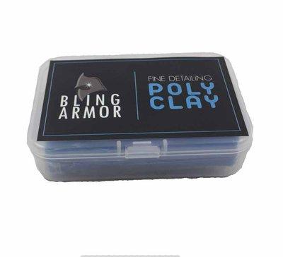 『好蠟』BLING ARMOR BLUE FINE DETAILING POLY CLAY 約100克 BA藍色黏土