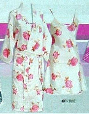 【玫瑰生活館】~玫瑰~2件式細肩帶裙袍睡衣組, XL, XXL現貨