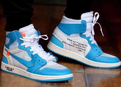 【Le-Lin】Air Jordan 1 X OFF WHITE 北卡藍