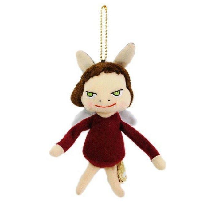 天使熊雜貨小舖~日本帶回奈良美智walk on系列~惡魔天使娃娃  限定  珠扣吊飾  全新現貨