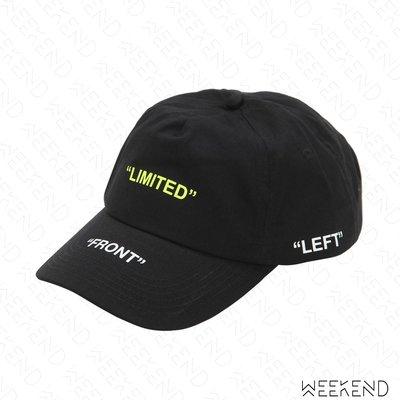 【WEEKEND】 TABOO Limited 文字 棒球帽 鴨舌帽 帽子 黑色 19春夏
