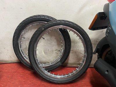 SUPER CUB110 天氣之子 CST 前胎70-90-17 後胎80-90-17 全新落地胎(含內外胎丶輪圈丶鋼絲端子)
