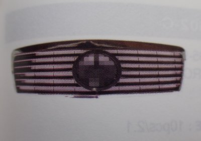泰山美研社18123113 BENZ 賓士 E CLASS W210 95-99年 跑車款 11線大星 鍍鉻黑 水箱罩