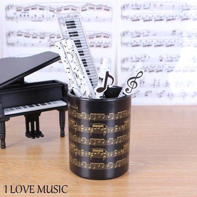 小叮噹的店- 台製 IP05M 筆筒.金色樂譜 中型 樂譜筆筒