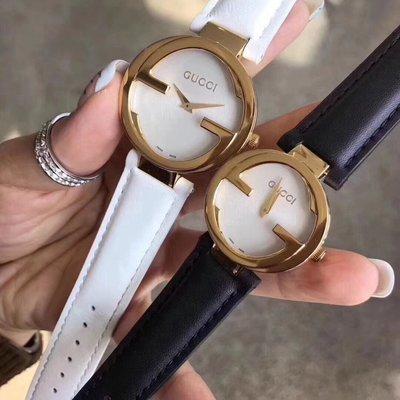 GUCCI 古馳 格萊美對錶 316精鋼材質 石英機芯 男女通用