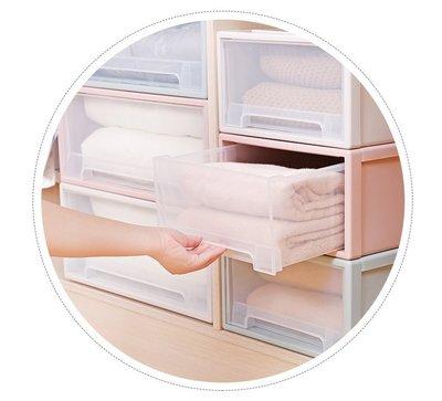 日式抽屜式收納盒 臥室透明抽屜式收納櫃 寶寶儲物收納櫃 防塵衣物整理櫃 塑料儲物櫃 20L