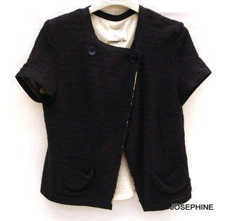 喬瑟芬【VIOLET】特價出清$8300~2011春夏 深藍色 棉質 短袖 外套