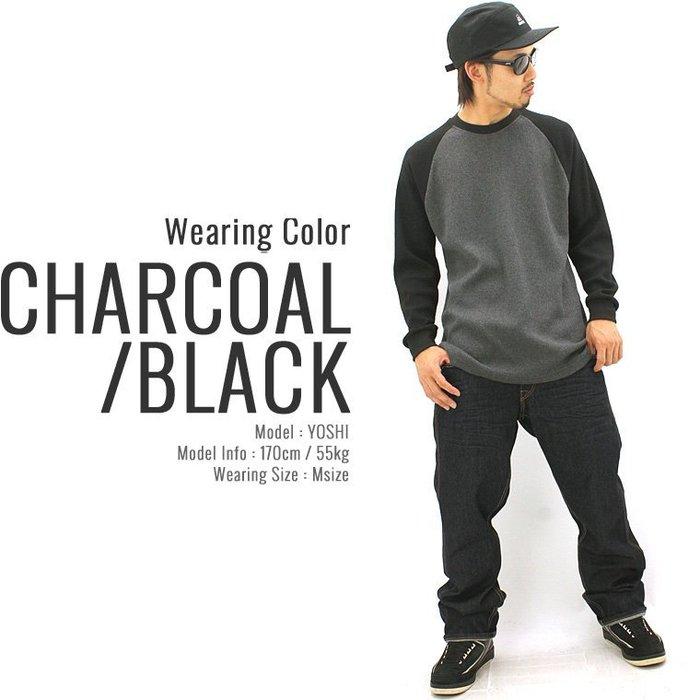 (安心胖)  PRO CLUB Thermal Raglan Long Sleeve Tee 2XL 3XL