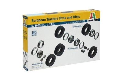 ITALERI 1/24 EUROPEAN TRACTORS TYRES and RIMS 3909
