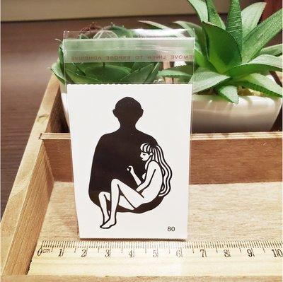 【萌古屋】百態人生80單圖 - 男女防水紋身貼紙刺青貼紙 K43