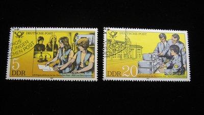 【大三元】歐洲郵票-7.德國郵票-科技工業-銷戳票2枚