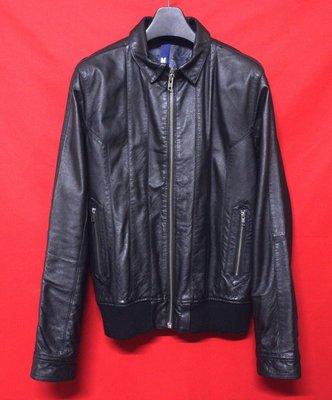 【嚴選日本精品】日本帶回DIVIDED by H&M 頂級高檔英倫紳士獵裝真皮騎士皮衣