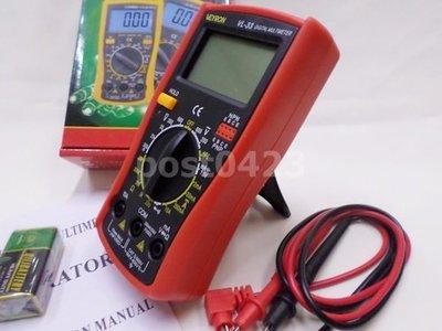 【網路貿易商城】電工錶工具VL-33三用電錶 數字三用電錶萬能表大號顯示電表 萬用電錶