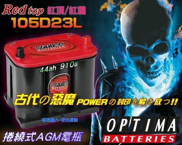〈鋐瑞電池〉美國電瓶 紅霸電池 OPTIMA 105D23L 速霸陸 森林人 MAZDA 3 馬自達 6 CX5 CX7