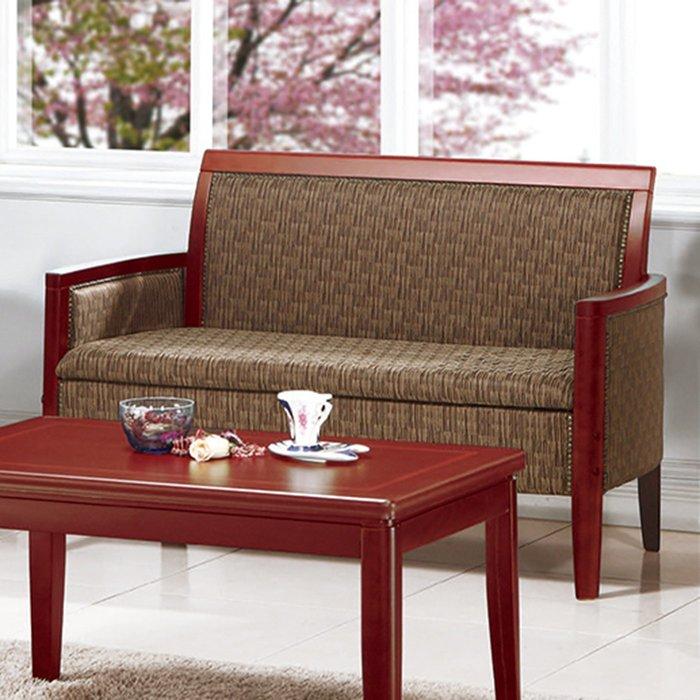 【在地人傢俱】19 樂樂購-400咖啡色布2人/二人/雙人休閒沙發椅 JL100-5