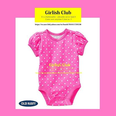 【Girlish Club】old navy女寶寶12-18m短袖包屁衣屁衣連身衣(c310)carters二七一元起標