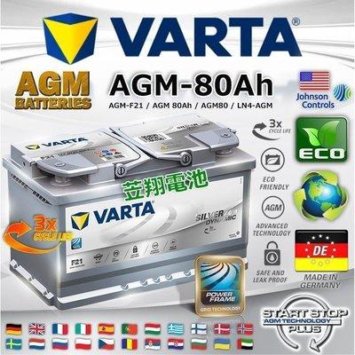 德國華達VARTA F21 AGM 電瓶 START-STOP 啟停系統電池 賓士BENZ BMW 保時捷 VOLVO