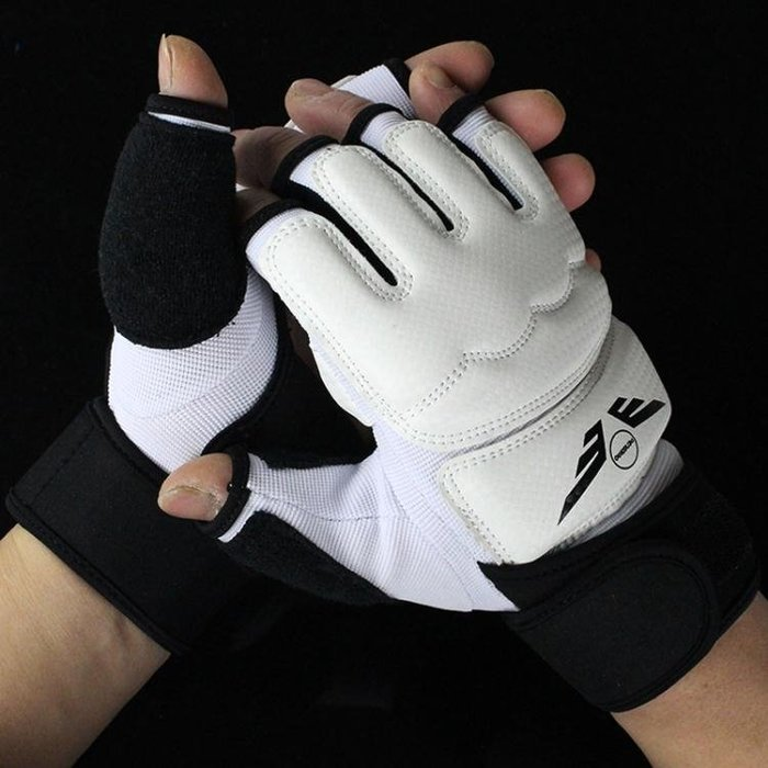 PU半指拳擊手套散打拳套搏擊格斗泰拳訓練沙袋少年拳擊套成人男女