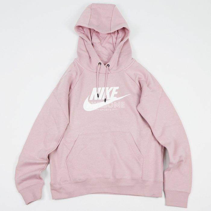 [歐鉉]NIKE NSW HOODIE 乾燥玫瑰色 基本款 刷毛 連帽 帽T 女生 BV4127-645