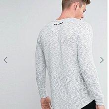 英國 11 Degrees Long Sleeve T-Shirt With Fleck 灰色棉質衛衣 大學T 長袖T恤