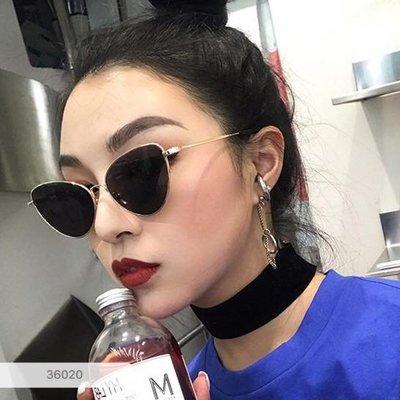 丟嘿小姐►正韓* 超時髦個性復古貓眼框墨鏡 ~ 三色 / 需預購約15個工作天0405