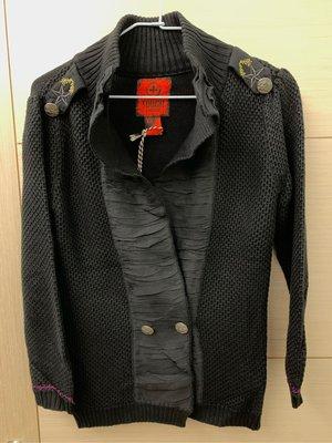 全新TOUGH Jeansmith軍裝造型立領毛線外套-吊牌未拆,原價$4480