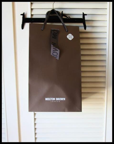 布萊德彼特愛牌【MOLTON BROWN】深棕色厚質中型方型禮盒裝紙袋
