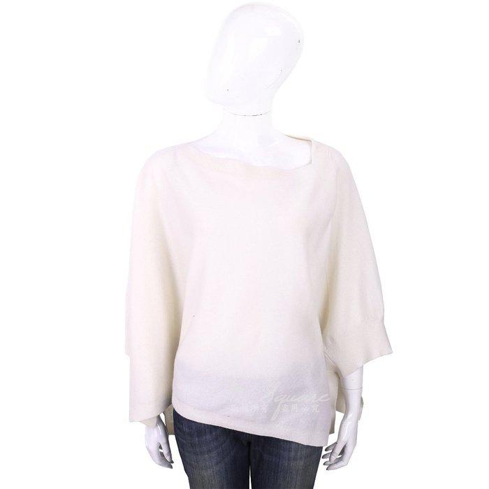 米蘭廣場 ALLUDE 喀什米爾白色斗篷式針織羊毛衫1740247-20