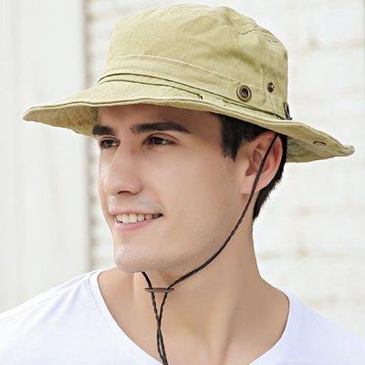 【職業裝】CK7831*個性春夏新款戶外休閒出遊遮陽時尚塗層紗卡盆帽漁夫帽子