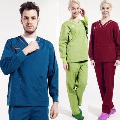 【職業裝】LS7620*高品質 醫生護士洗手服手術服工作服男女款刷手衣分體長袖滌棉V領