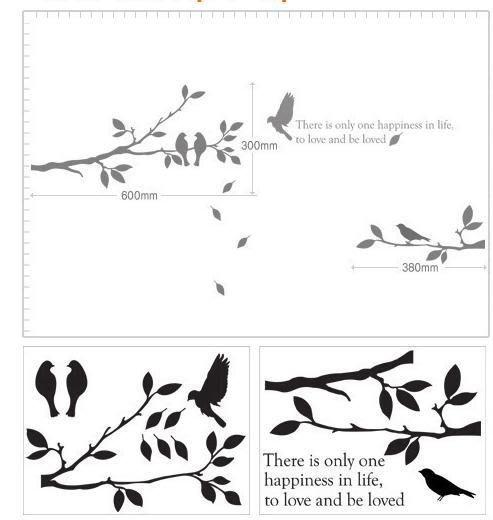 【皮蛋媽的私房貨】韓國壁貼&壁紙*室內設計/裝飾*樹枝與鳥