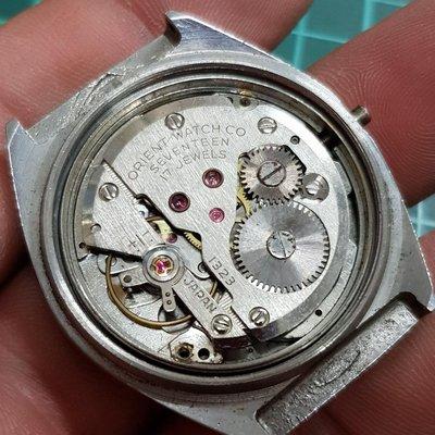 <行走順暢>ORIENT 手上鏈 盤面歪 無龍頭 零件料件 另有 機械錶 老錶 ETA SEKIO Rolex lm ks TITONI CITIZEN D04