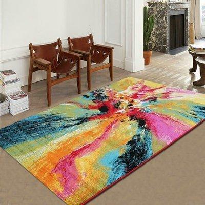 土耳其進口客廳地毯簡約混紡茶几沙發地毯...