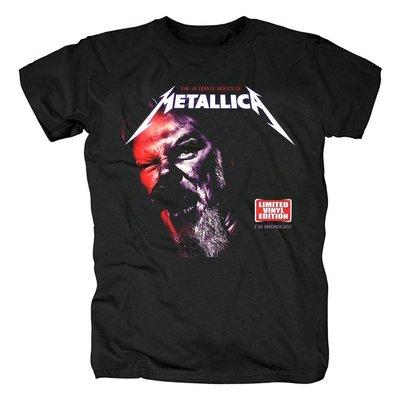 新品Metallica速度金屬Heavy Metal鞭笞金屬樂隊印花短袖男T恤