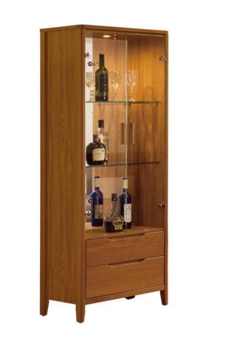 【DH】商品貨號BC193-2商品名稱《堤米》2尺實木展示櫃(圖一)附LED燈。台灣製可訂做。主要地區免運費