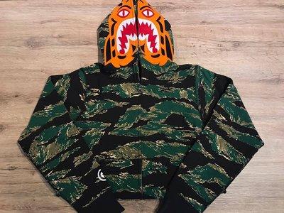 【MASS】A BATHING APE TIGER CAMO TIGER FULL ZIP HOODIE 虎紋 外套