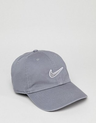 【Footwear Corner 鞋角】Nike Swoosh Grey Caps 耐吉灰勾白邊電繡 老帽