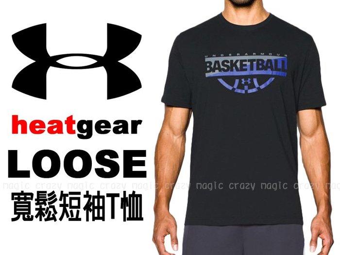 69折 UNDER ARMOUR UA 短袖 T恤 能量棉 圖案T 黑色 LOOSE # 1298347-002