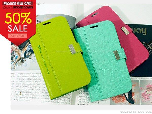 蝦靡龍美【KR158】正韓貨 韓國直送 i-Line GALAXY Note 2 S3 高質感磁釦側翻筆記本式手機皮套