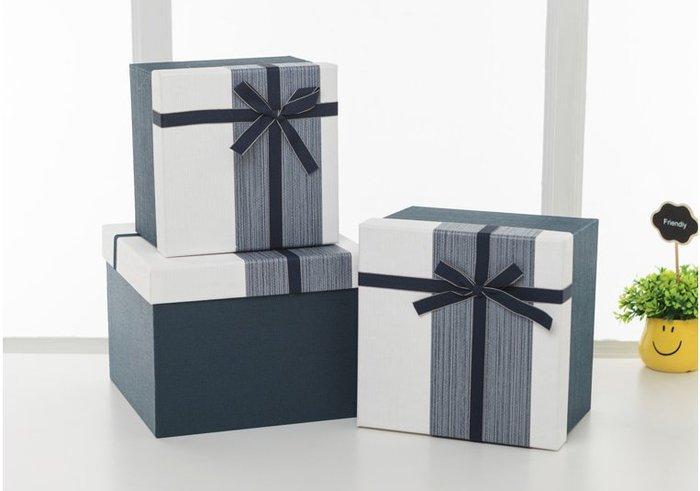 現貨#大號正方形禮品盒精美生日禮物盒情人節禮盒復古簡約創意包裝盒子