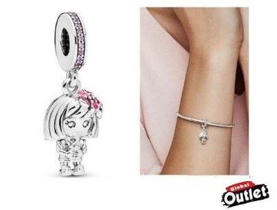【全球購.COM】PANDORA 潘朵拉 鑲鑽新款中國花童吊墜珠 925純銀 美國正品代購