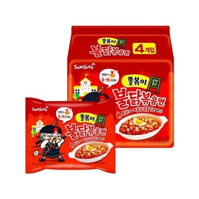 韓國 三養 Samyang 辣雞風味Q麵 140g/4入(袋) 辣雞 Q麵 泡麵【特價】異國精品