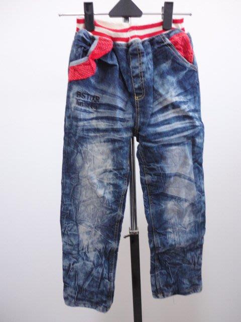 99元起標~KALETU~刷毛保暖牛仔褲~藍色~SIZE:13