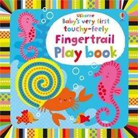 *小P書樂園* BABYS VERY FIRST TOUCHY-FEELY FINGERTRAIL PLAY BOOK
